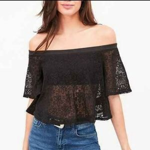 Urban Outfitters Kimchi Blue lace off the shoulder